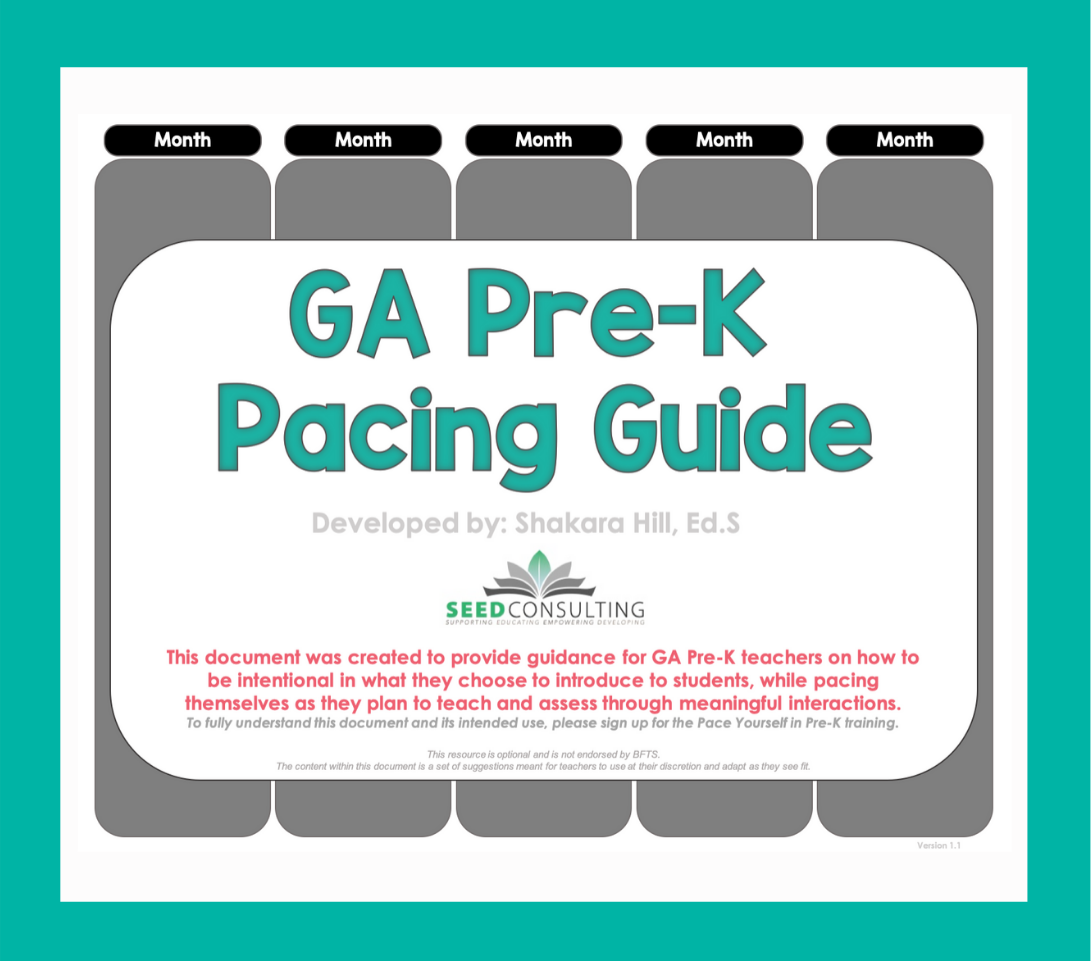 Pace Yourself & Plan In Ga Pre-K Training Page Image-4